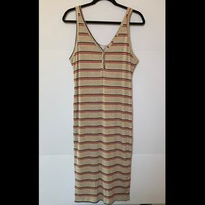All in Favor midi ribbed tank dress
